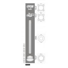 Stĺp C3001W - vrúbkovaný