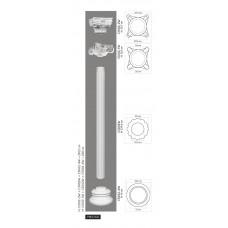 Stĺp C3002W - vrúbkovaný