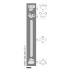 Polovičný stĺp C3000H - vrúbkovaný