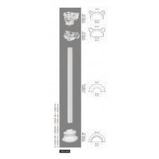 Polovičný stĺp C3001H - vrúbkovaný