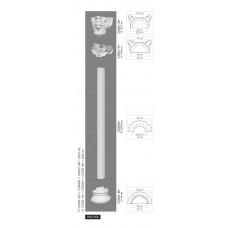 Polovičný stĺp C3002H - vrúbkovaný