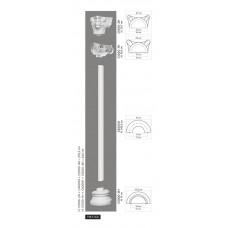 Polovičný stĺp C4000H - hladký
