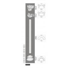 Polovičný stĺp C4001H - hladký