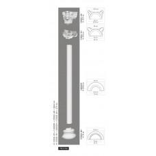 Polovičný stĺp C4002H - hladky